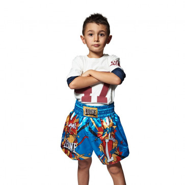 Pantaloncino junior Kick-Thai Leone Hero ABJ02 Blu