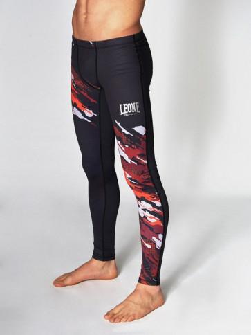 Pantaloni a compressione Leone Neo Camo ABX56 davanti