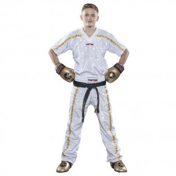 Pantaloni da kick boxing Top Ten Mesh Star Collection Bianco