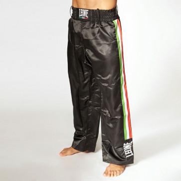 Pantaloni da kick boxing Leone Full AB758 Nero di fronte