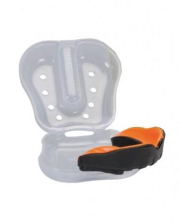 Paradenti con Gel Professionale con custodia - TOP RING - Art. 423 Nero/arancio