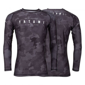 Rashguard Tatami Stealth maniche lunghe davanti - dietro