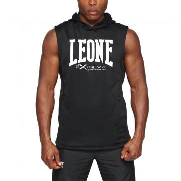 Smanicato Leone Extrema Logo con cappuccio nero