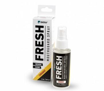 Spray rinfrescante SISU per paradenti con confezione