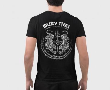 T-shirt Combat Arena Muay Thai-gers Nero - dietro