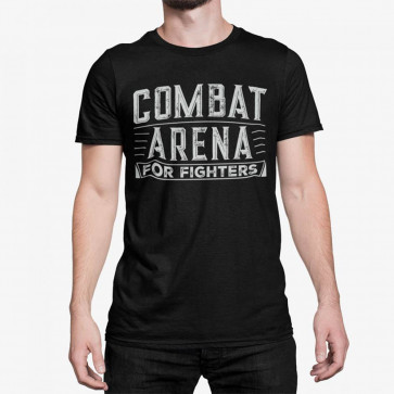 T-shirt Combat Arena For Fighters - nero