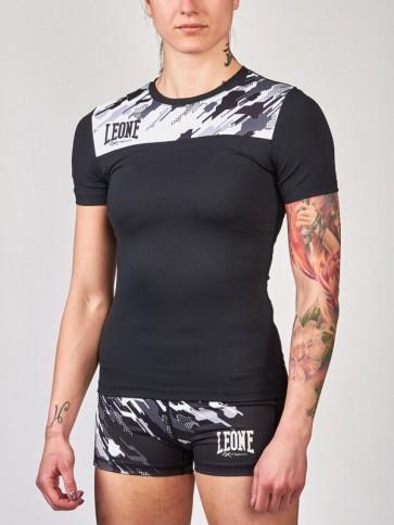 T-shirt donna Leone Neo Camo a compressione ABX71