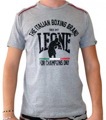 T-Shirt Leone Grey Melange LSM747 Dettaglio