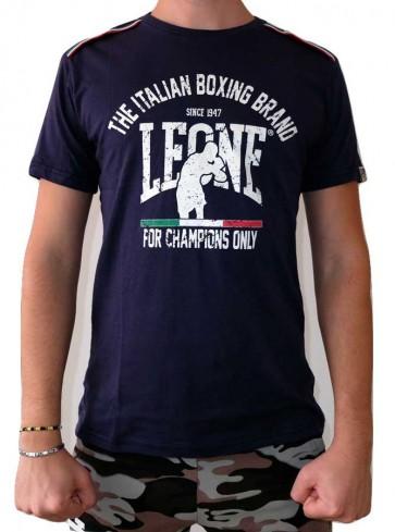 T-Shirt Leone Navy Blue LSM747 dettaglio
