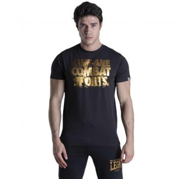 T-shirt Leone Gold maniche corte nero