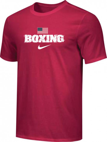 T-shirt Nike Training Boxing US BXUS rosso