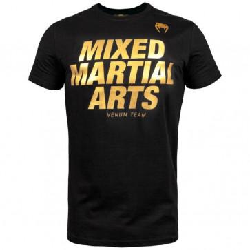 T-shirt Venum MMA VT Nero-Oro visione anteriore