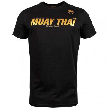 T-shirt Venum Muay Thai VT Nero-Oro