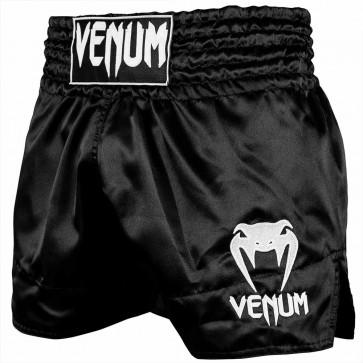 Pantaloncini Venum Muay Thai Classic nero-bianco