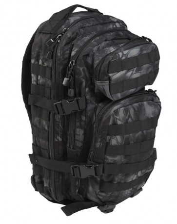Zaino Nero Mandra Night US Assault Small Mil-Tec