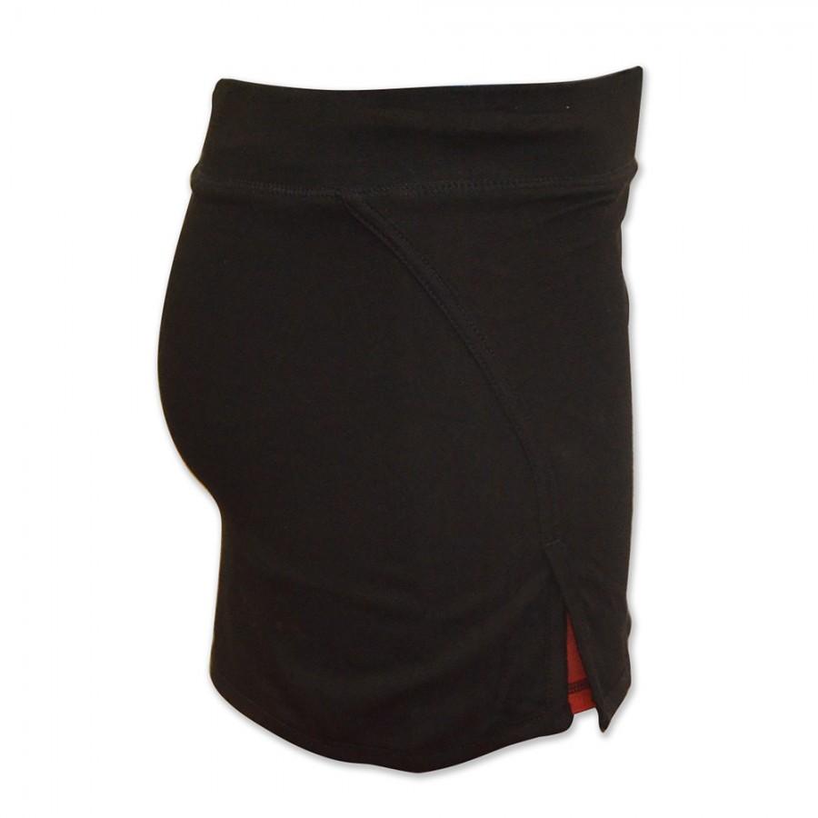 dd8015feeeef Adidas Gonna nera con logo rosso shorts incorporati