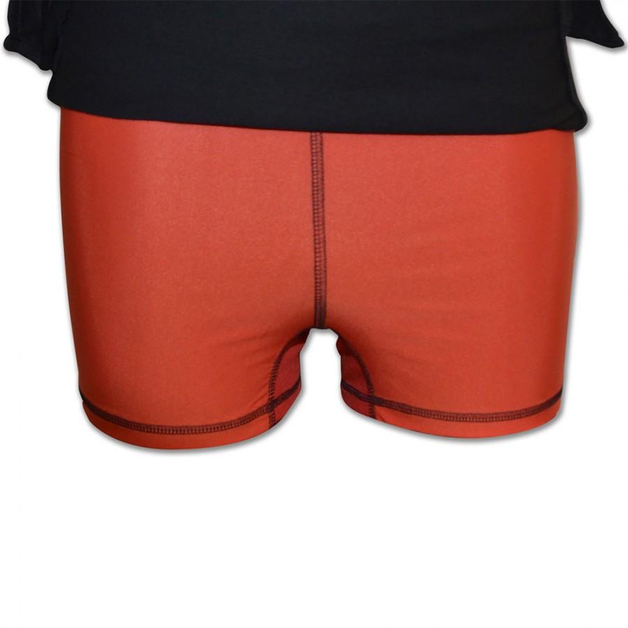 1920f3078954 Gonna Adidas nera con logo rosso pantaloncino integrato