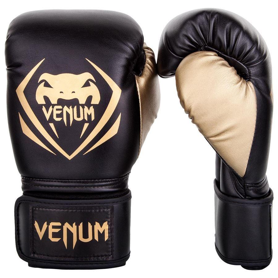 VENUM Guantoni da Boxe Contender NERO-GRIGIO BOXING GLOVES MMA MUAY THAI BOXE