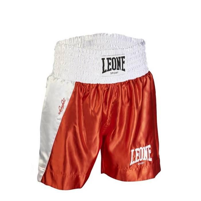 Leone 1947 Pantaloncini da Boxe Linear AB722 in Raso. Rosso 6e3ae2ad0e0f