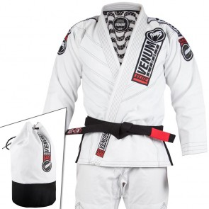 BJJ Gi Venum Elite Light 2.0 Bianco Sacca