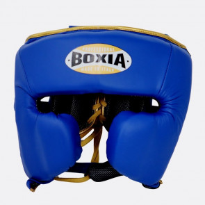Casco Boxia Challenge Blu-oro con Parazigomi