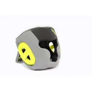 Casco Kappa Fobos con parazigomi nero-grigio-giallo
