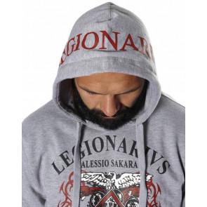 Felpa smanicata Leone Legionario Legio11 Dettaglio cappuccio