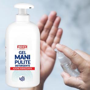 Gel igienizzante per le mani Why Sport Mani Pulite 500 ml con dispenser