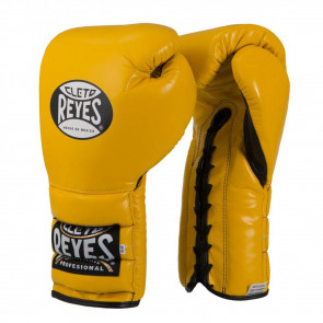 Guantoni Cleto Reyes Traditional Training CE4 Giallo con lacci