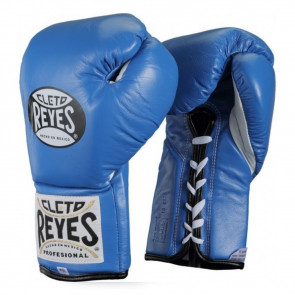 Guantoni Cleto Reyes Professional Blu con lacci