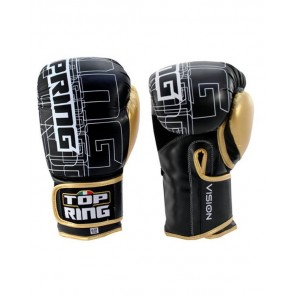 Guantoni 10 Oz Top Ring Boxe Kick Boxing Vision Art. 310 Bianco