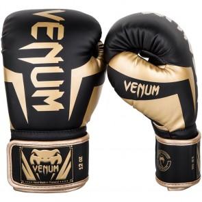 Guantoni Venum Elite Gold Nero Lato