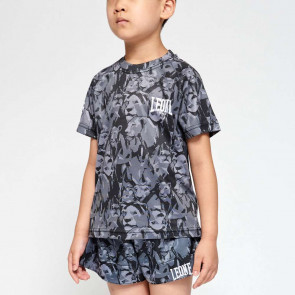 T-shirt bambino Leone Leo Camo ABJ13 - grigio