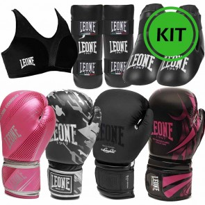 Kit Kick Boxing Black Mamba guantoni paratibie calzari paraseno