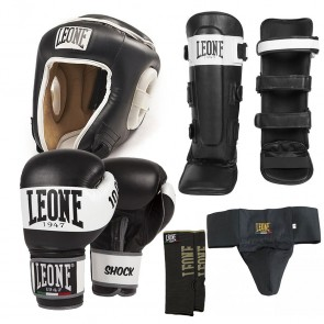 Kit Kick Boxing Muay Thai Leone 1947 Shock nero