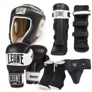 Kit Kick Boxing Muay Thai Leone 1947 Shock rosso