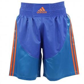 Pantaloncini da Boxe Adidas Solar Blue - Arancio Fluo