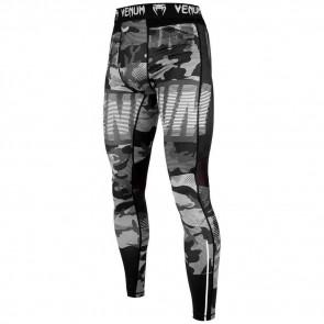 Pantaloni a compressione Venum Tactical nero-bianco davanti