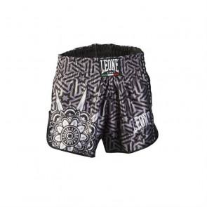 Pantaloncini da thai-kick Leone Mandala AB761 Nero