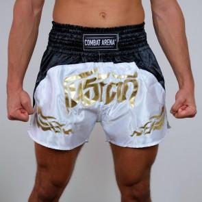 Pantaloncini Combat Arena Thai Muen Plan Bianchi