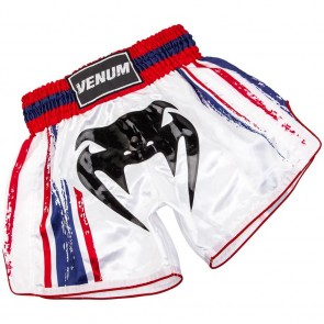 Pantaloncini da Muay Thai Venum Bangkok Spirit Bianchi