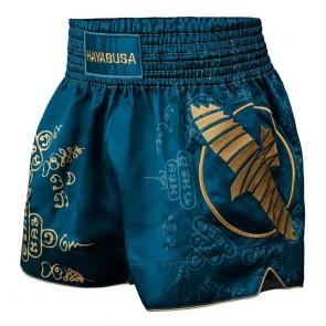 Pantaloncini Hayabusa Falcon Muay Thai blu davanti