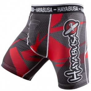Pantaloncini a compressione Hayabusa Metaru 47 Rosso