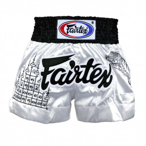 Pantaloncini Muay Thai Fairtex BS0637 Superstition Bianco