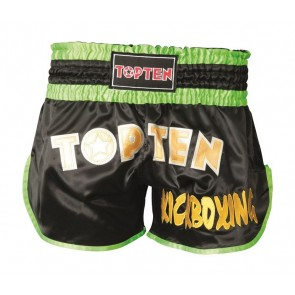 Pantaloncini da kick boxing Top Ten Flexz Nero/verde
