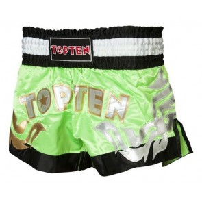 Pantaloncini da kick boxing Top Ten Neon