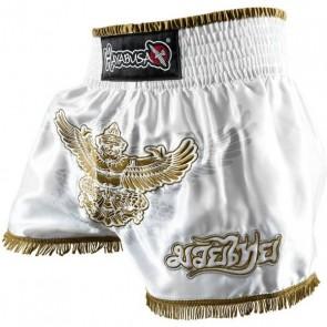Pantaloncini da muay thai Hayabusa Garuda Bianco