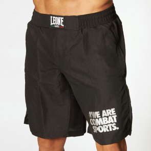 Pantaloncini da MMA Leone Basic AB795 Nero davanti