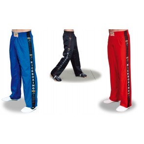 Pantaloni da Full Contact con scritta Kick Boxing Top Ring
