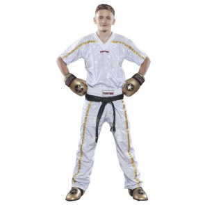 Pantaloni da kick boxing Top Ten Mesh Star Collection Bianco